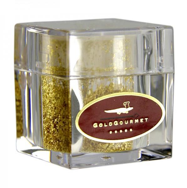 Goldgourmet - Gold - Würfelstreuer mit Blattgoldflocken 22 Karat E175