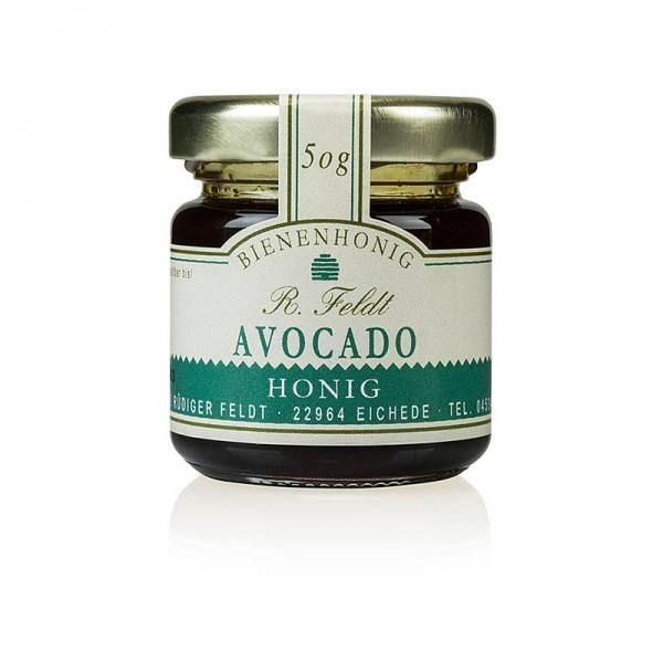 R. Feldt Bienenhonig - Avocado-Honig Mexiko dunkel flüssig leichtes Pflaumenaroma Portionsglas