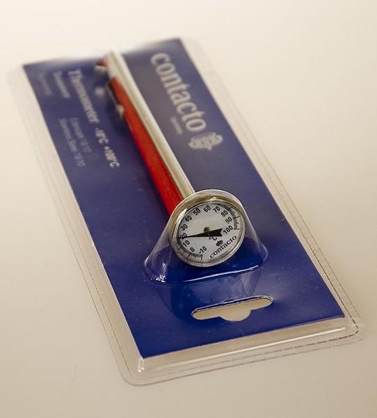 Deli-Vinos Kitchen Accessories - Analog Thermometer-Prüfstab Edelstahl Messbereich -10°C bis +100°C 14cm lang