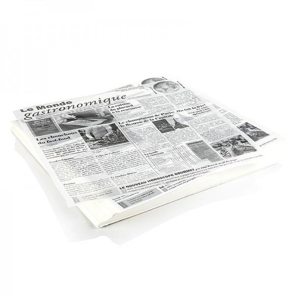 Deli-Vinos Kitchen Accessories - Snack Papier mit Zeitungspapierdruck ca.290x300mm 500 Blatt (le monde gastro)