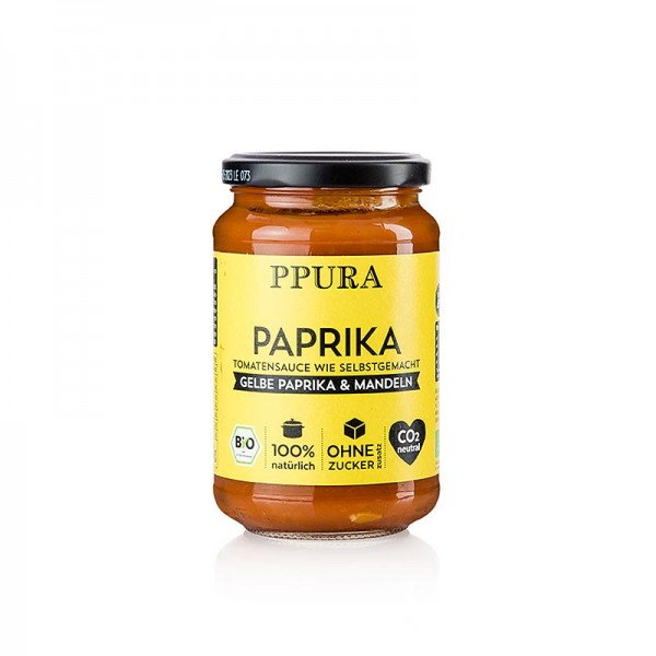 Ppura - Ppura Sugo Paprika - mit gelber Paprika und Mandeln BIO