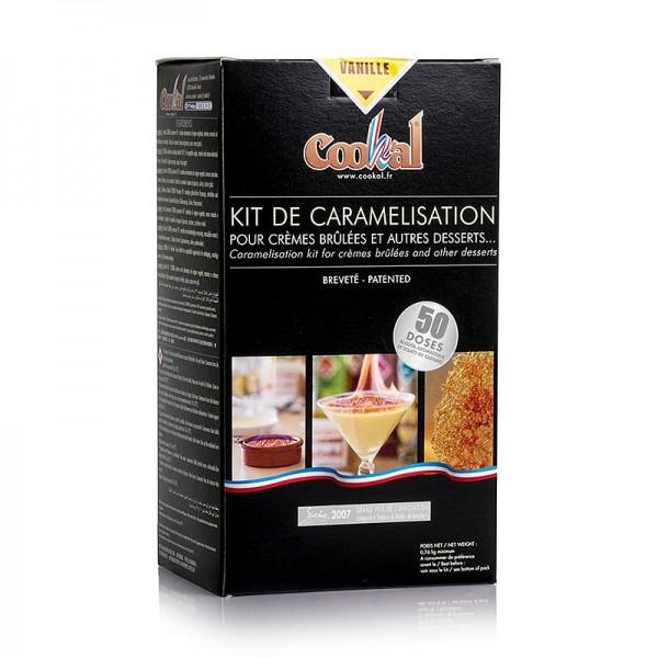 Cookal - Creme Brulee Set Vanille karamelisieren mit Flambieressenz 50 Portionen