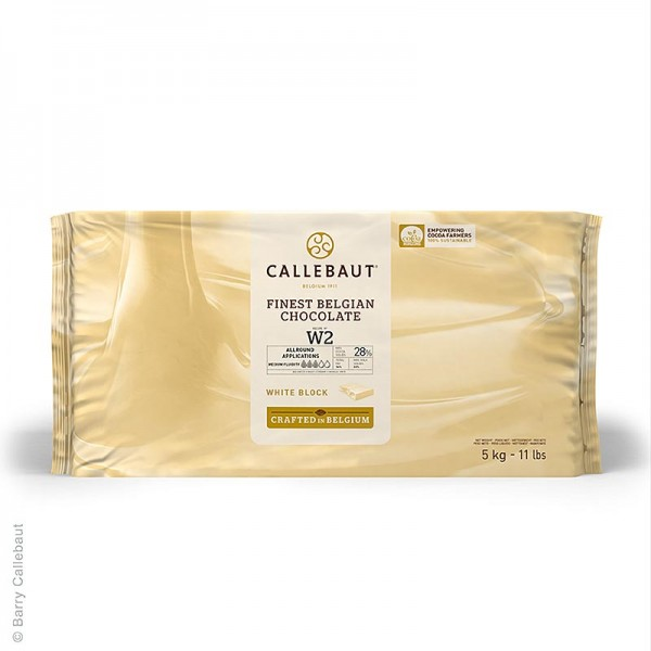 Callebaut - Weiße Schokolade Block 28% Kakaobutter 23% Milch