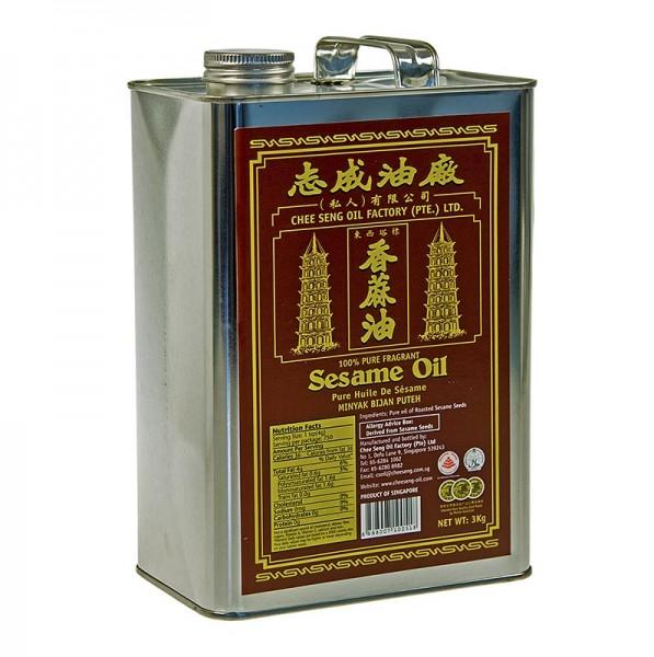 Chee Seng - Sesamöl Asia rein dunkel aus geröstetem Sesam