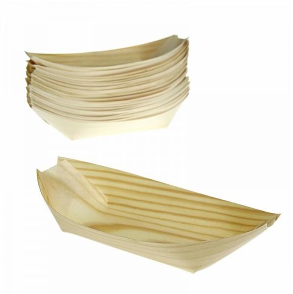 Deli-Vinos Kitchen Accessories - Einweg Boot aus Holz 22cm hitzebeständig bis 180° C
