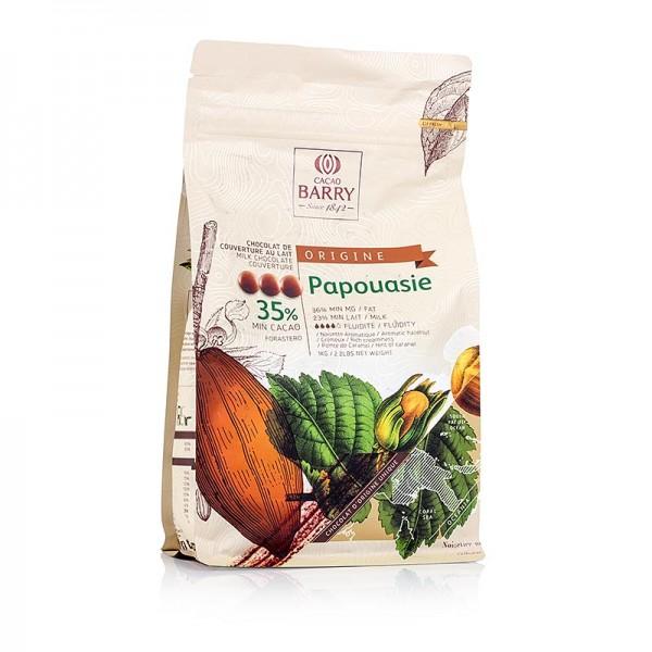 Cacao Barry - Origine Papouasie Vollmilch Schokolade Callets 35% Kakao
