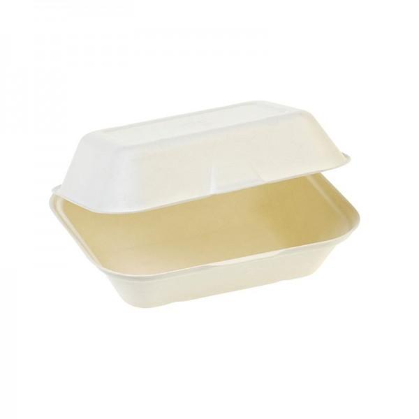 Naturesse - Einweg Naturesse Food Box Klappdeckel mittel 18.5x14x7.4cm Zuckerrohr