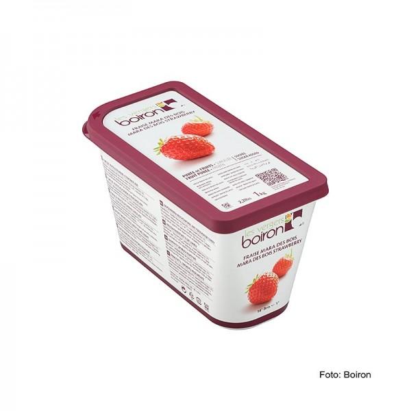 Les Vergers Boiron - Püree-Erdbeer Mara des Bois besondere Sorte mit Walderdbeergeschmack TK