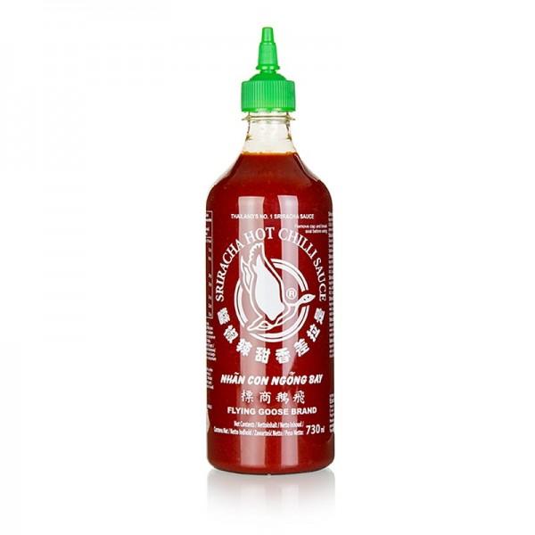 Sriracha Sauce - Chili-Sauce - Sriracha scharf mit Knoblauch Squeeze Flasche Flying Goose