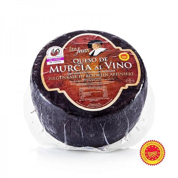 Murcia al Vino - Murcia al Vino Queso D.O. - 100% Ziegenkäse in Rotwein-Rinde