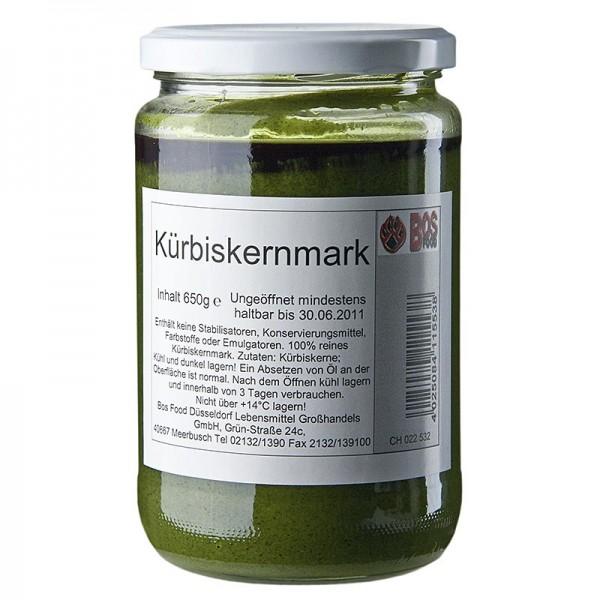 Bos Food - BOS FOOD Kürbiskern-Mark 100% Mark ohne Zusatzstoffe