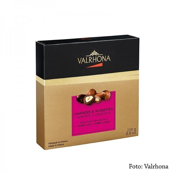 Valrhona - Valrhona Equinoxe Kugeln - Mandeln/Haselnüsse in Bitter- & Vollmilchschokolade