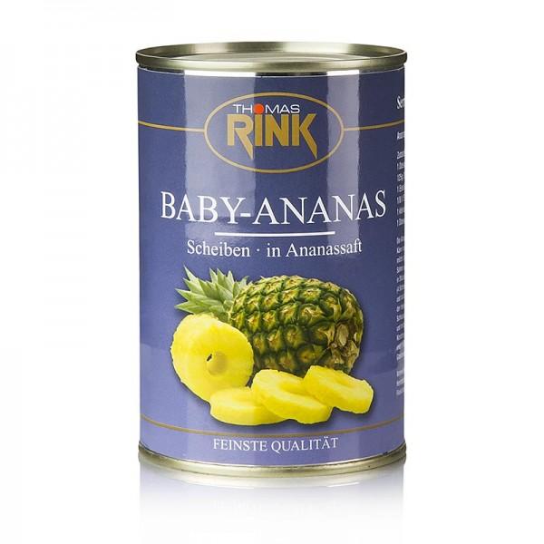 Thomas Rink - Baby-Ananas-Scheiben in Ananassaft