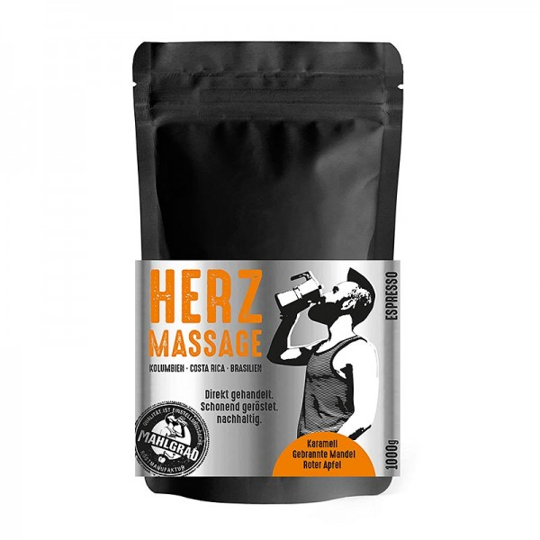 Mahlgrad - Mahlgrad - Herzmassage 100% Arabica Espresso ganze Bohnen