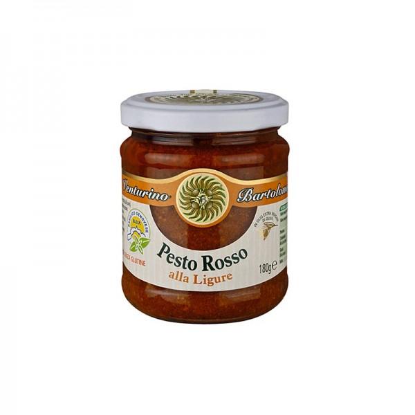 Venturino - Pesto Rosso Sauce mit Basilikum Tomaten und Nüssen Venturino