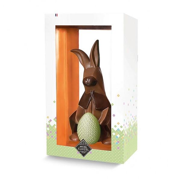 Michel Cluizel - Schokoladen- Osterhase Origami Vollmilch 39% 18x10cm Michel Cluiziel