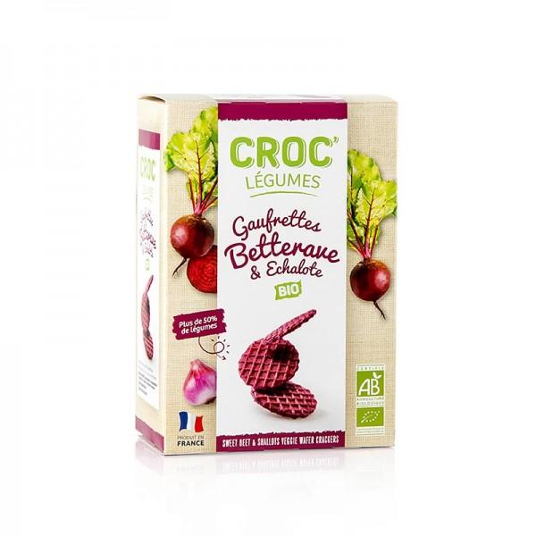 Croc Légumes - Barsnack Croc Légumes - franz. Mini-Waffeln mit Rote Bete & Schalotten BIO