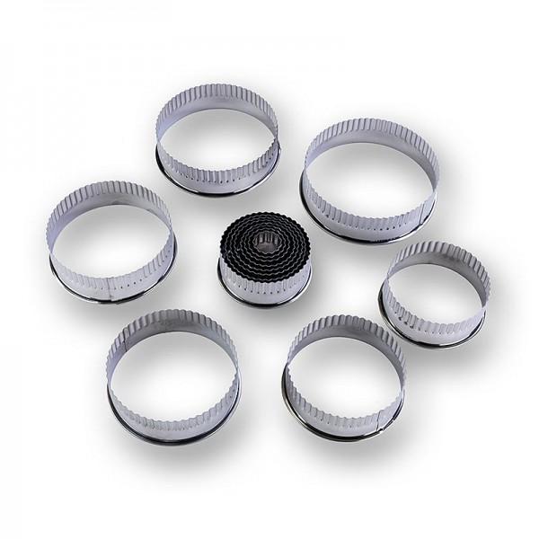 Deli-Vinos Kitchen Accessories - Blechausstecher Set rund gerippt ø 2.2 -11cm 3cm hoch