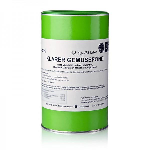 Klarer Gemüsefond - Klarer Gemüsefond Instantpulver ohne zugesetztes Glutamat für 72 Liter