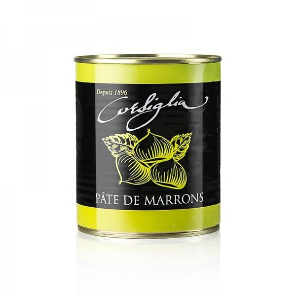 Corsiglia Facor - Maronen Paste mit Vanille fest & süß (grüne Dose) Corsiglia Facor