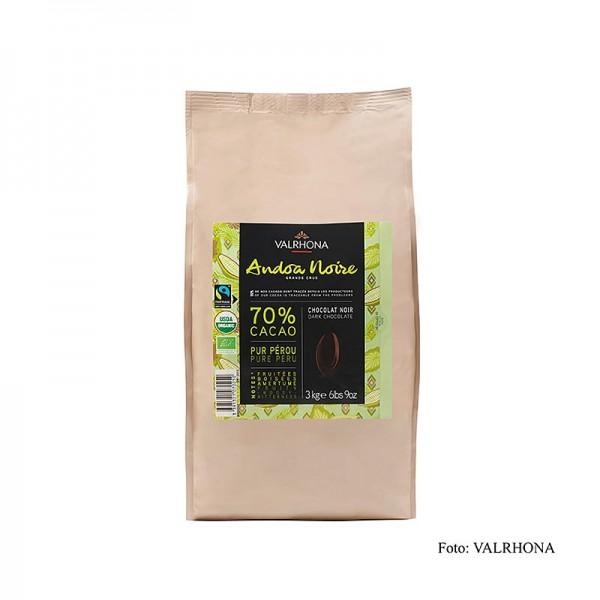 Valrhona - Valrhona Andoa Noire Couverture dunkel Callets 70% Kakao BIO