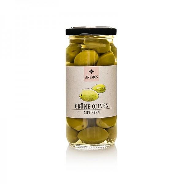 Anemos - Grüne Oliven mit Kern in Lake ANEMOS