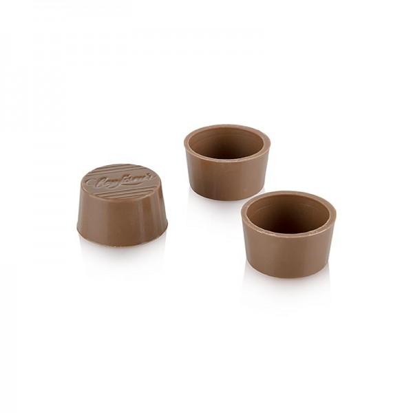Läderach - Pralinen Halb-Schalen rund Vollmilch ø 30/25x16mm Läderach