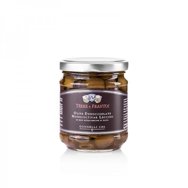 Terre e Frantoi - Schwarze Leccino Oliven in Öl (Denocciolate) ohne Kerne Terre e Frantoi