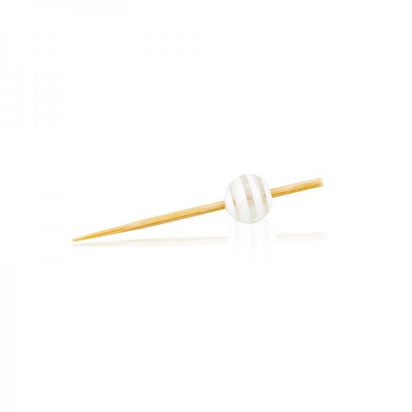 Deli-Vinos Kitchen Accessories - Holz Spieße mit Kristallkugel klar/weiß gestreift 5cm