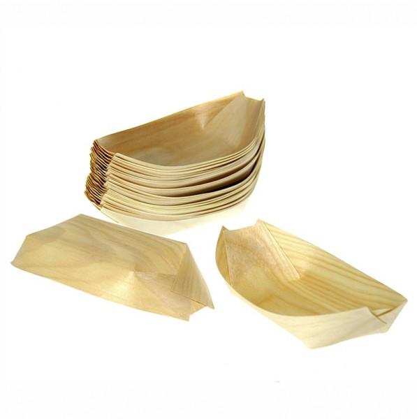 Deli-Vinos Kitchen Accessories - Einweg Boot aus Holz 31.5cm hitzebeständig bis 180° C