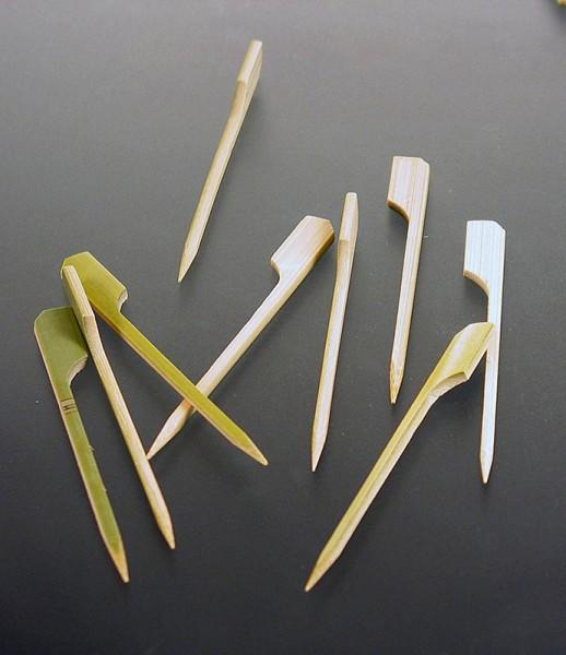 Deli-Vinos Kitchen Accessories - Bambus-Spieße mit Blattende 9cm