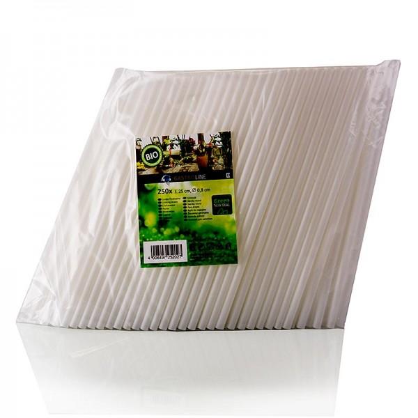 Gastroline - Jumbo Trinkhalme aus PLA (Polylactid) weiß Ø8mm 25cm lang