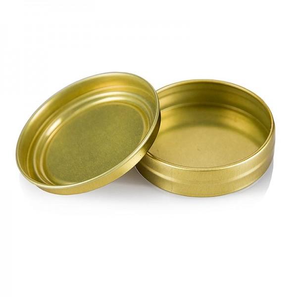 100% Chef - Kaviardose - gold unbedruckt ohne Gummi ø 6.5cm für 80g Kaviar 100% Chef