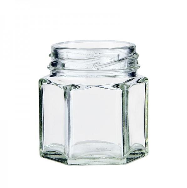 Deli-Vinos Kitchen Accessories - Glas sechseckig 47 ml ø 43mm Mündung ohne Deckel