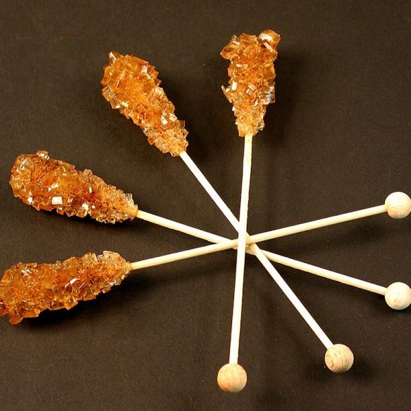 Deli-Vinos Patisserie - Kandis-Sticks braun Zuckerkristalle am Stiel