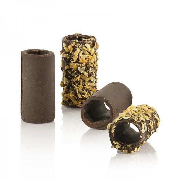 Pidy - Mini Schokoladen und Kokos Canneloni Zartbitter 2cm Ø 5cm lang Pidy