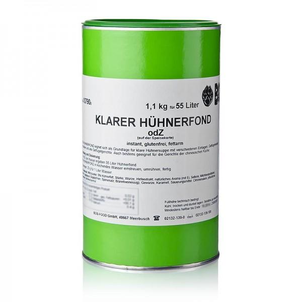 Klarer Hühnerfond - Klarer Hühnerfond Instantpulver ohne zugesetztes Glutamat für 55 Liter