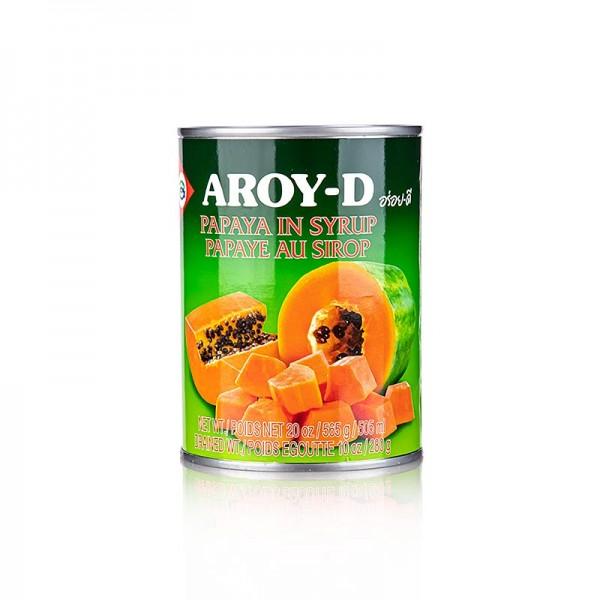 Aroy-D - Papaya Stücke in Sirup 565g (Atg. 280g) Aroy-D