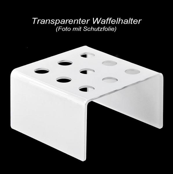 Deli-Vinos Kitchen Accessories - Mini-Waffelhörnchen-Halter Plexiglas lichtgrau quadratisch für 9 Hörnchen