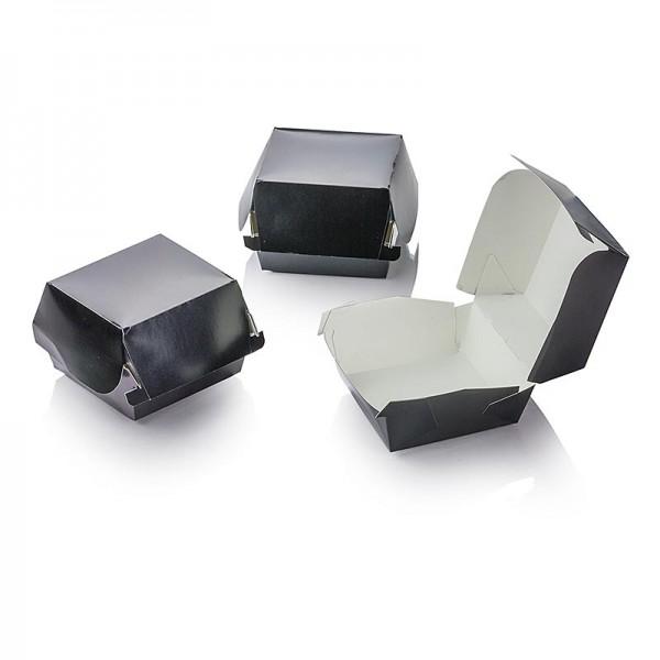100% Chef - Mini Hamburger Pappboxen schwarz 90x80x50mm.100% Chef