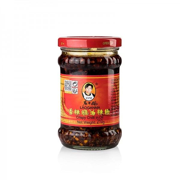 Lao Gan Ma - Crispy Chili Oil - Chili in Öl mit knusprigen Zwiebeln Lao Gan Ma