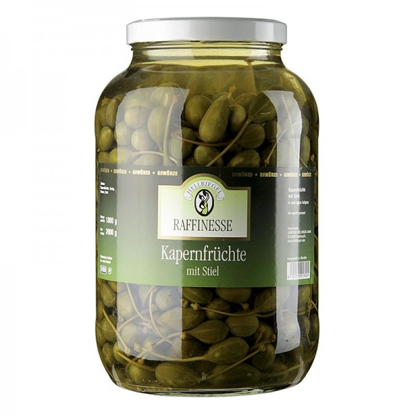 Hellriegel Raffinesse - Kapernfrüchte groß mit Stiel ø 18-21mm Rafinesse