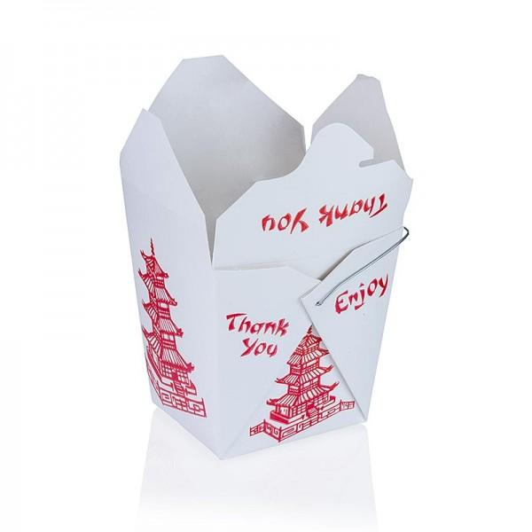 Deli-Vinos Kitchen Accessories - Take-away-Box Asia mit Bügel und Pagode bedruckt 750ml Fold-Pak