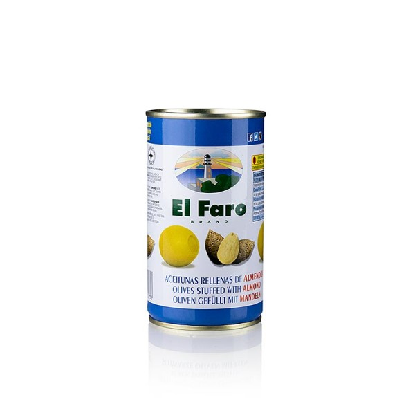 El Faro - Grüne Oliven ohne Kern mit Mandeln in Lake El Faro