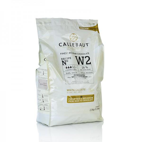 Callebaut - Weiße Schokolade Callets 28% Kakaobutter 22% Milch