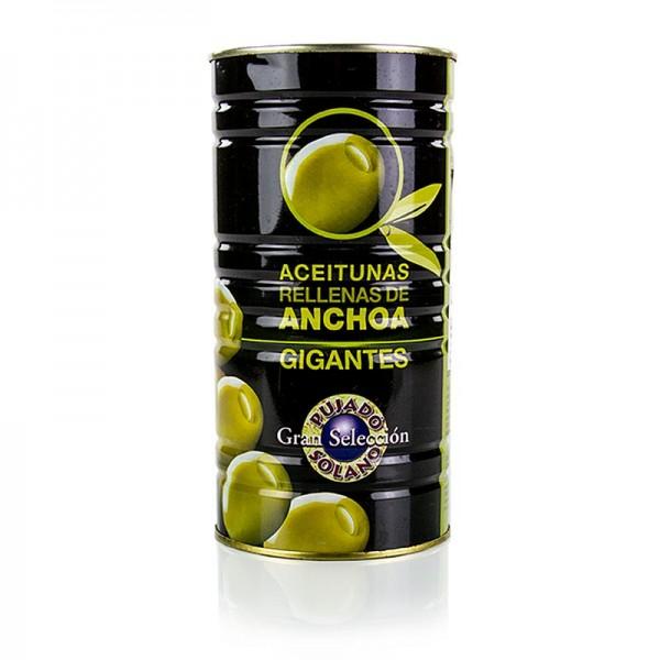 Pujado Solano - Grüne Oliven Manzanilla mit Anchovis