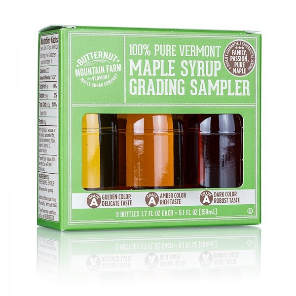 Butternut Mountain Farm - Ahornsirup-Testbox A Grade (Golden Amber Dark)