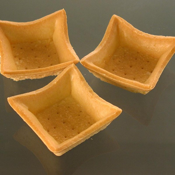 Hug - Dessert-Tartelettes - Elegance quadratisch 5.6x5.6cm Mürbeteig