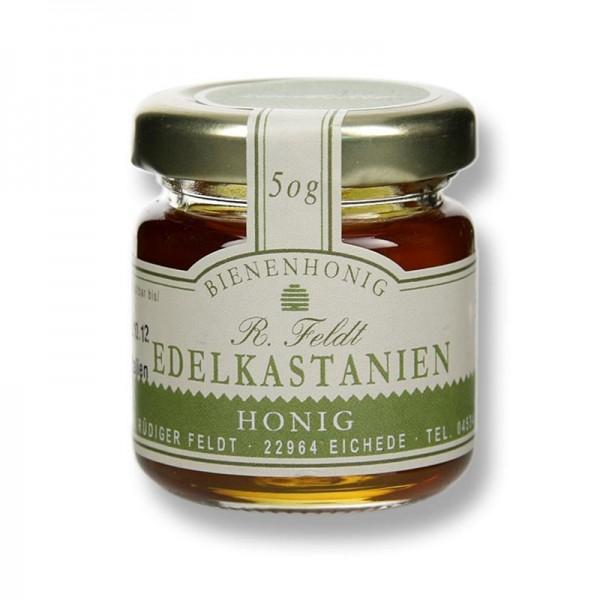 R. Feldt Bienenhonig - Edelkastanien-Honig Italien mittelbraun flüssig zartbitter Portionsglas