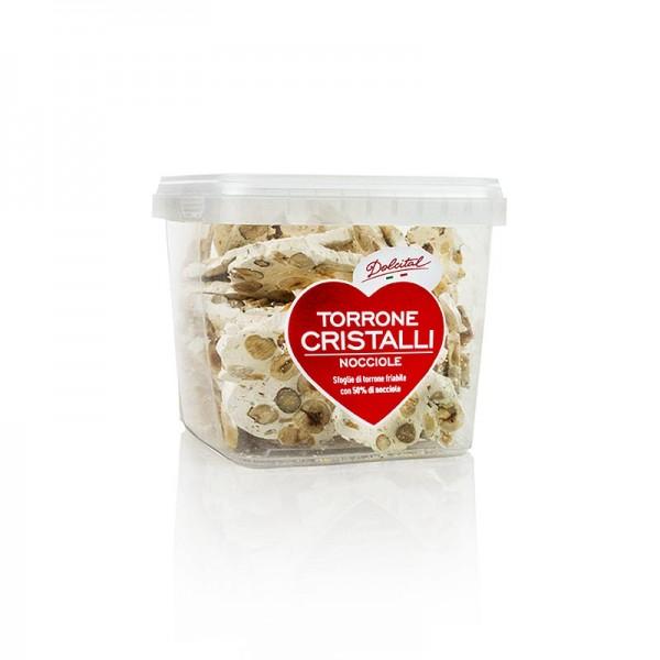 Dolcital - Italienische Torrone Cristalli - Haselnuss gebrochen hart